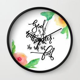 God Within Her Wall Clock