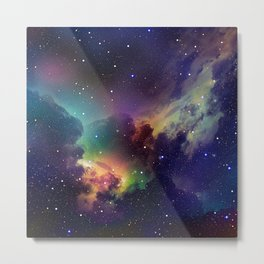 Abstract Space Fantasy Metal Print