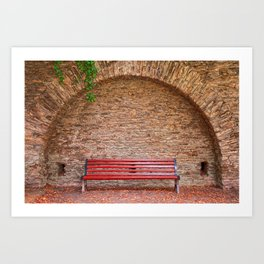 Once Upon a Bench Art Print