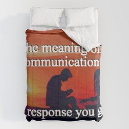 Meaning of a Communication Comforters