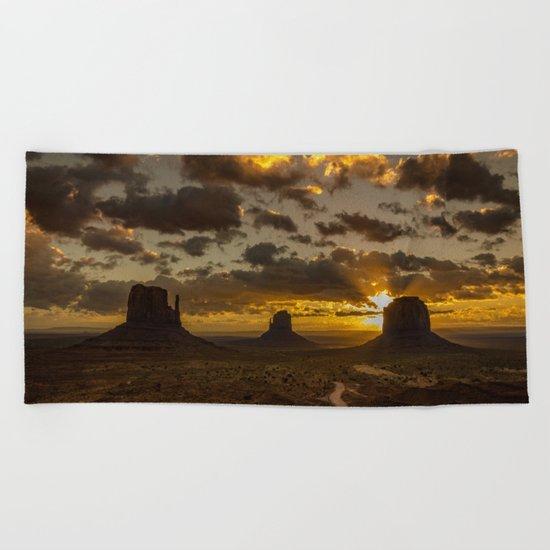 Monument Valley - Vivid Sunrise Beach Towel
