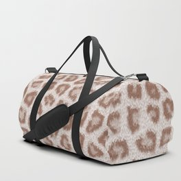 Abstract hipster brown white cheetah animal print Duffle Bag
