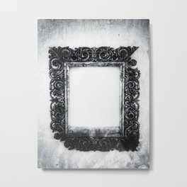 | a frame of nothing - or the mirroring of unborn thoughts | Metal Print