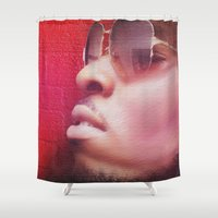 model Shower Curtains featuring Model by Azeez Olayinka Gloriousclick