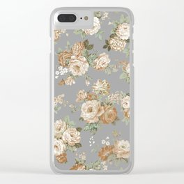 grey shabby Clear iPhone Case
