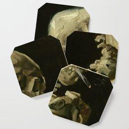 Vincent van Gogh - Skull of a Skeleton with Burning Cigarette Coaster