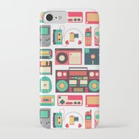 technology iPhone & iPod Cases featuring Retro Technology 1.0 by Ralph Cifra