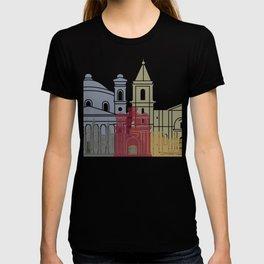 Valletta skyline poster T-shirt