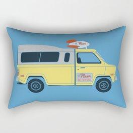 Galactic Pizza Van Rectangular Pillow