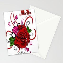Rose & Diamonds Stationery Cards