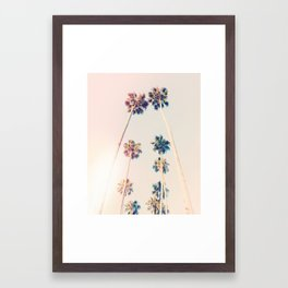 Vintage Pastel Palm trees Framed Art Print