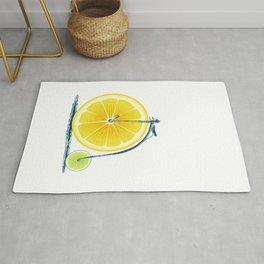 Lemon Lime and an Old Bike Rug