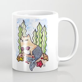 Seashell Mer-Kitty Coffee Mug