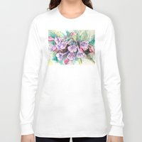 virginia Long Sleeve T-shirts featuring virginia bluebells by Beth Jorgensen