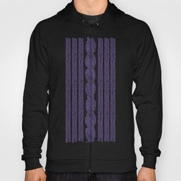 Cable Stripe Violet Hoody