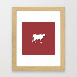 Cow: Barn Red Framed Art Print