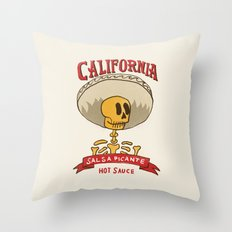 California Hot Sauce Throw Pillow