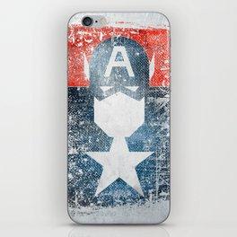 Yankee Captain grunge superhero iPhone Skin