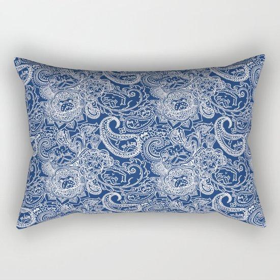 Paisley Pug Rectangular Pillow