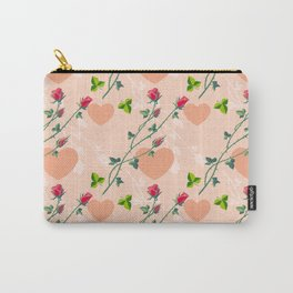 Pink pattern with roses Carry-All Pouch