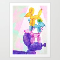baloon Art Prints featuring Baloon Pups by Fricking