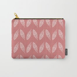 Tropical foliage Flamingo Pink #tropical #leaves #homedecor Carry-All Pouch