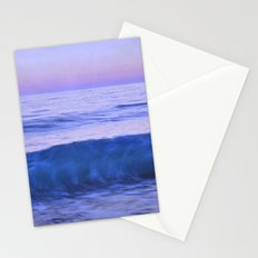 Blue wave. Retro summer. Stationery Cards