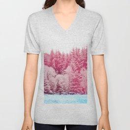 Candy pine trees Unisex V-Neck