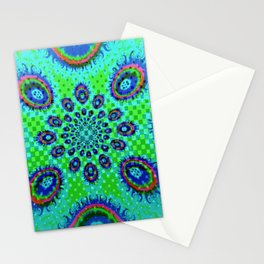 Blue & Green Fireballs Stationery Cards