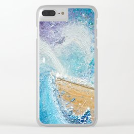 The Ark - Faith through turbulent times - Hold on perfect storm - artwork of surrender and hope Clear iPhone Case