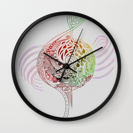 The Incessant Note Wall Clock