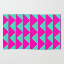 Neon Pink & Aqua Rug