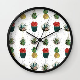 Festive Succulents Wall Clock