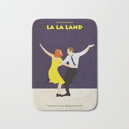 La La Land Alternative Minimalist Film Poster Bath Mat