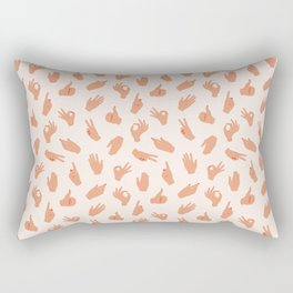 Pattern of hands Rectangular Pillow