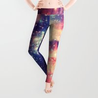 sky Leggings featuring Painting the universe by badbugs_art