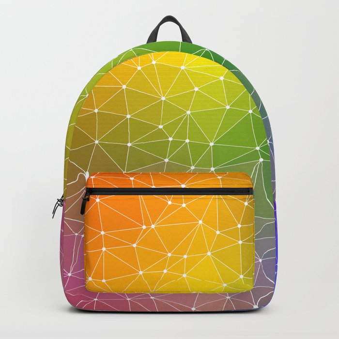 Triangulated Rainbow Dotted Pattern Backpack