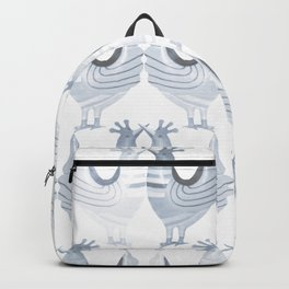 """""""Chickens from Your Barnyard, in Blue"""" by Murray Bolesta Backpack"""