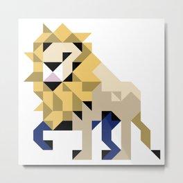 LION PATCH Metal Print