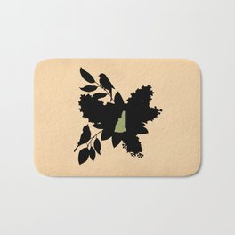 New Hampshire - State Papercut Print Bath Mat