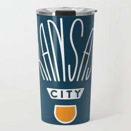 Kansas City Shuttlecock Type - White Travel Mug