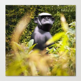 Gorilla in my front yard Canvas Print
