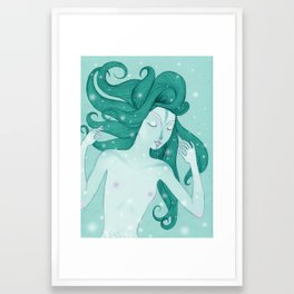 The mermaid Framed Art Print