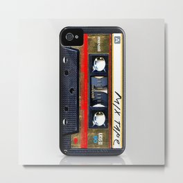 classic retro Gold mix cassette tape iPhone 4 4s 5 5c, ipod, ipad, tshirt, mugs and pillow case Metal Print