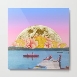 Pink lake Metal Print