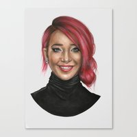 jenna kutcher Canvas Prints featuring Jenna Marbles by Molly Thomas