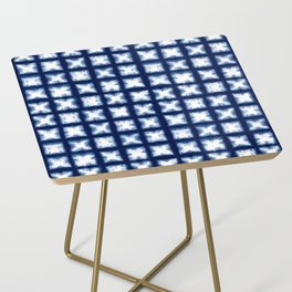 Indigo Shibori Granny Squares Side Table