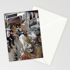 E Train Wolves Stationery Cards