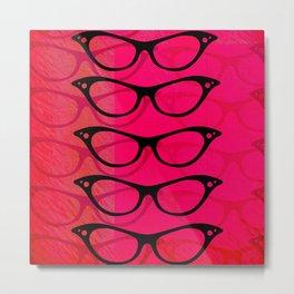 Glasses 50's Metal Print