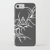 deathly hallows iPhone & iPod Cases featuring Deathly Hallows - inverted by Ria-Ra